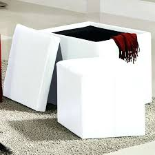 White Storage Ottoman Ottomans Storage Cubes Collapsible Storage Ottoman