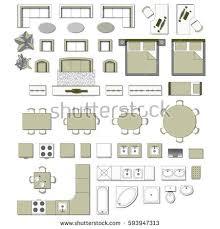 set top view interior icon design stock vector 593947313
