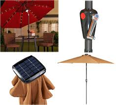 Solar Lights Patio by Light Up The Night With This Solar Patio Umbrella