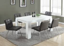 rectangular dining room tables amazon com monarch specialties i 1056 dining table white