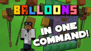 minecraft balloons minecraft balloons in one command 1 9