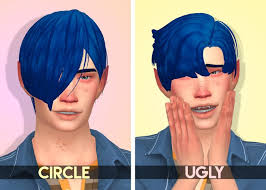 sims 4 blue hair 89 best ts4 cc genetics and make up images on pinterest ts4 cc