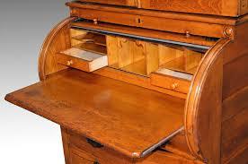 Oak Crest Desk Antique Oak Cylinder Secretary Desk From Maineantiquefurniture On