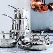 William Sonoma Kitchen Rugs Williams Sonoma Open Kitchen Stainless Steel 10 Piece Cookware Set