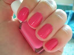 current manicure essie pansy perfect bright pink inspired by
