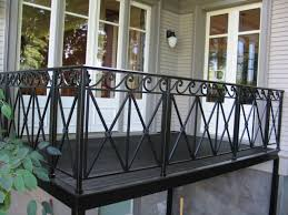 modern balcony railing design exterior balcony dark building wood