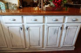 How To Antique Kitchen Cabinets With White Paint Best Distressed White Kitchen Cabinets U2014 The Clayton Design