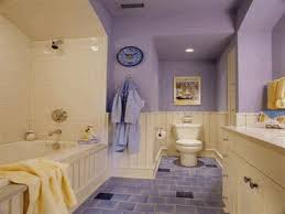 Plain Bathrooms Plain Gray Wall Paint White Marble Floor Tile Gray Wooden Sink