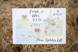 Map Guest 5 Wedding Invitations With Personalized Wedding Maps Gourmet