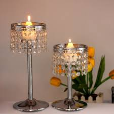 aliexpress com buy k9 crystal beads candle holder metal