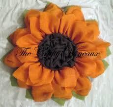 burlap sunflower wreath bright orange burlap sunflower wreath the crafty wineaux