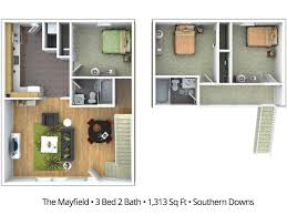 3 bedroom 2 bath floor plans 3 bedroom apartment floor plans pricing southern downs