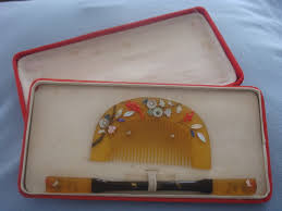 vintage comb vintage hair comb set from japan kogai and kushi set early