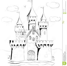 drawn palace fairytale castle pencil and in color drawn palace