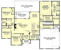 southern home floor plans southern home plan with bonus room 51735hz