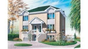 Multi Family House Plans Triplex Triplex With Two Story Apartments Hwbdo06807 European Multi Family