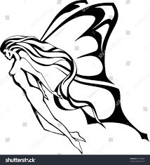 flying fairy outline