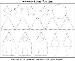 free worksheets preschool triangle worksheets free math