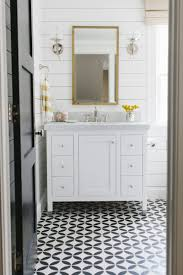 interior black and white tile floor bathroom pertaining to