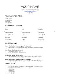 Dancer Resume Sample Dance Resume New 2017 Resume Format And Cv Samples Miamibox Us