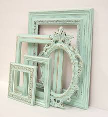 Shabby Chic Home Decor Wholesale by Shabby Chic Frames Pastel Mint Green Picture Frame Set Ornate