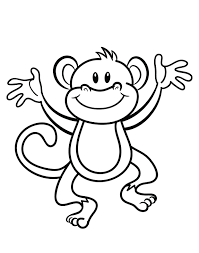 monkey coloring baby pages glum