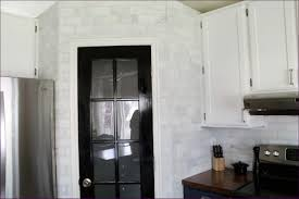 kitchen room polished marble backsplash natural stone subway