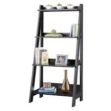 Wooden Ladder Bookcase by Cool Ladder Bookshelf Design Inspiration Come With Dark Grey