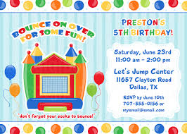 bounce house invitations template best template collection