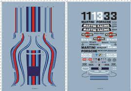 porsche martini logo 1 12 porsche 935 martini racing car panel markings model kit water