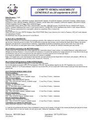 changement du bureau d une association assemblée générale du 29 septembre 2010 le de l association