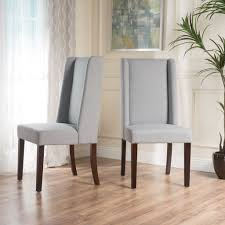 cline light grey fabric dining chair set of 2 these high back
