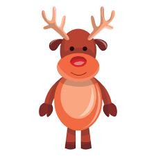 imagenes animadas de renos de navidad emoji colección de reno de navidad descargar vector
