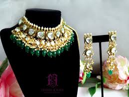 indian necklace set images Kundan choker necklace set indian jewelry kundan jewelry etsy jpg