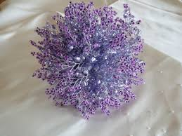 purple wedding bouquets lavender and purple wedding bouquet with silver stems and silver