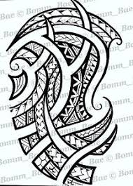 polynesian tribal tattoo designs vector womens stencil template