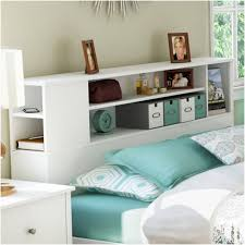 Bookcase Headboard King Platform Bed With Shelf Headboard Espresso Wooden Tall Headboard