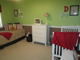 chic design ideas of boy and shared bedroom with brown wooden