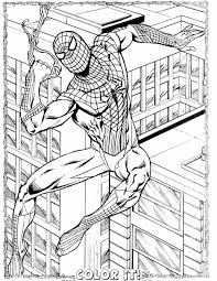 spiderman color pages newcoloring123