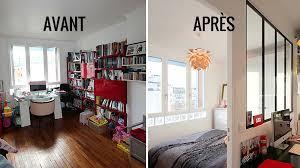 amenager chambre dans salon avant après repenser un salon pour y intégrer une chambre