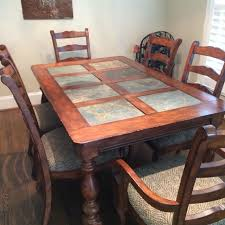 slate dining table set best dining table no chairs 65x40 all solid wood with 8 slate