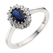 saphire rings 18ct white gold diamond sapphire ring ernest jones