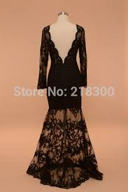 aliexpress buy black lace prom dress