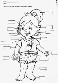 girls main parts of body is label all about me coloring page