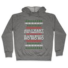 big christmas hooded sweatshirt human