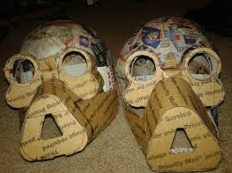 halloween paper mache masks scratch built tusken raiders for halloween