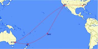 Map Of Tahiti Anatomy Of An Award Tahiti New Zealand Australia With Skymiles