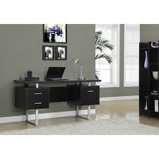 60 Office Desk Cappuccino Hollow Silver Metal 60 Inch Office Desk Free