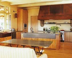 Rustic Kitchen Hoods - concrete trough sink kitchen