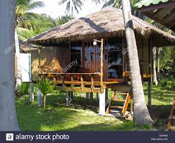 thatch beach bungalow on stilts ko libong resort ko libong island